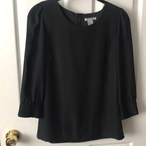 H&M black 3/4 sleeve blouse